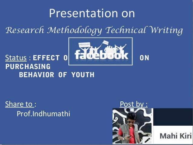 Research help on the impact of Facebook?