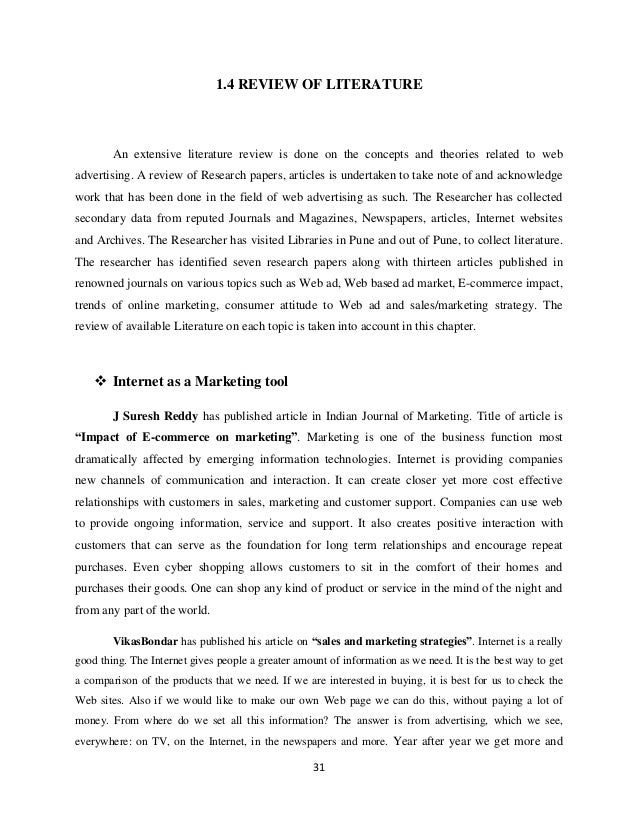 Marketing research literature review