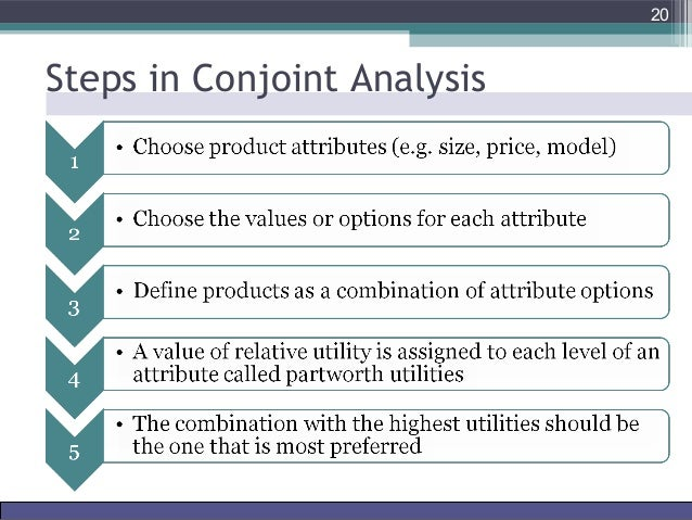 conjoint analysis in market research This tutorial will help you design and interpret a full profile conjoint analysis in excel  if the conjoint analysis and the simulated market have been.