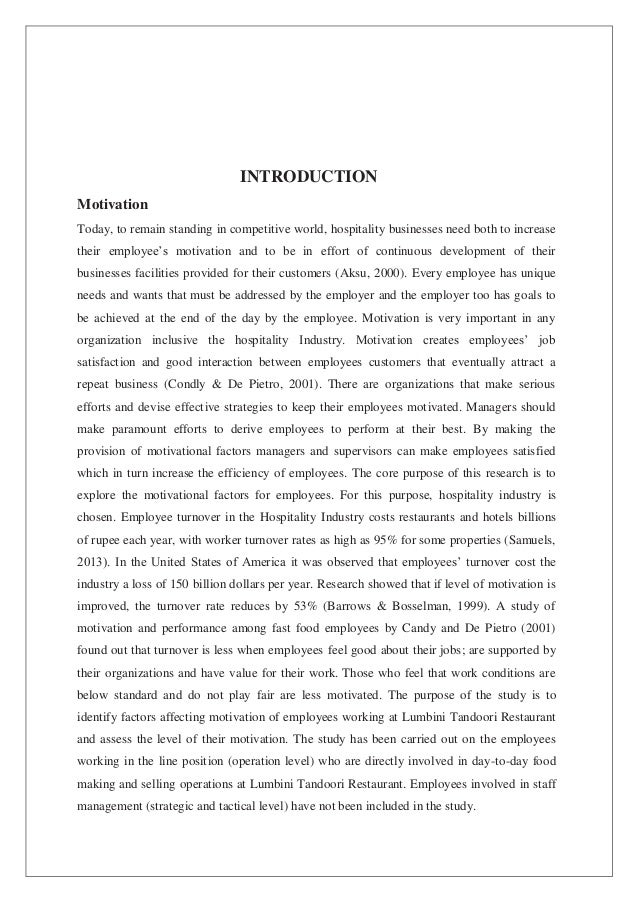 factors affecting employees motivation thesis Factors affecting the motivation of tefl academics in higher education in china a thesis submitted for the degree of doctor of philosophy.