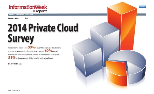Next  reports rep or ts.informat ionweek.com Januar y 2014  $99  2014 Private Cloud Survey 53% brought their private cloud...