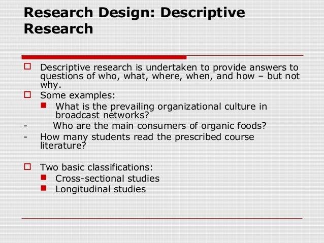 an example of descriptive research