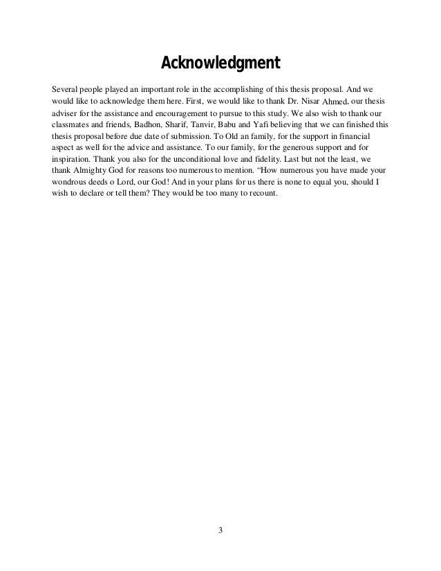 term paper sample acknowledgement