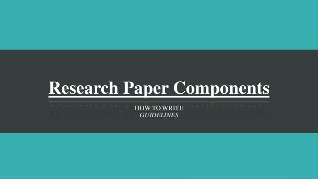 Components of a good essay
