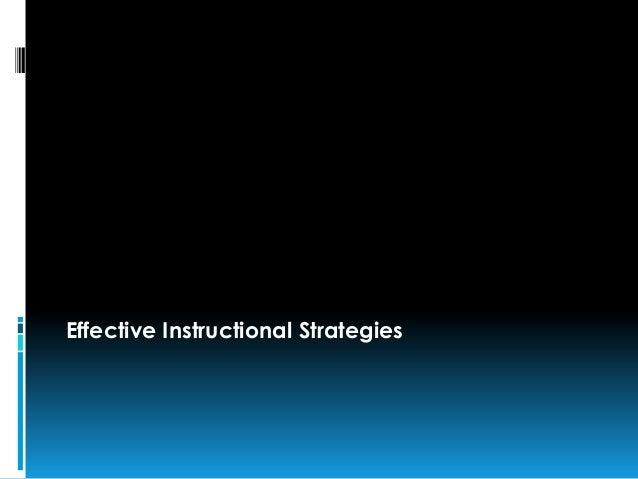 Effective Instructional Strategies