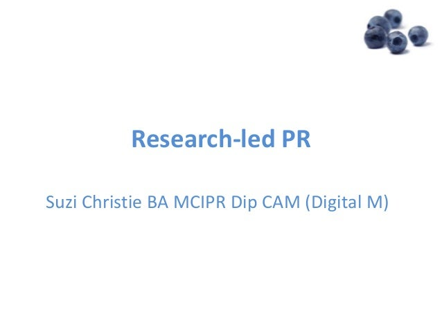 Research led PR 20th Nov2012with notes