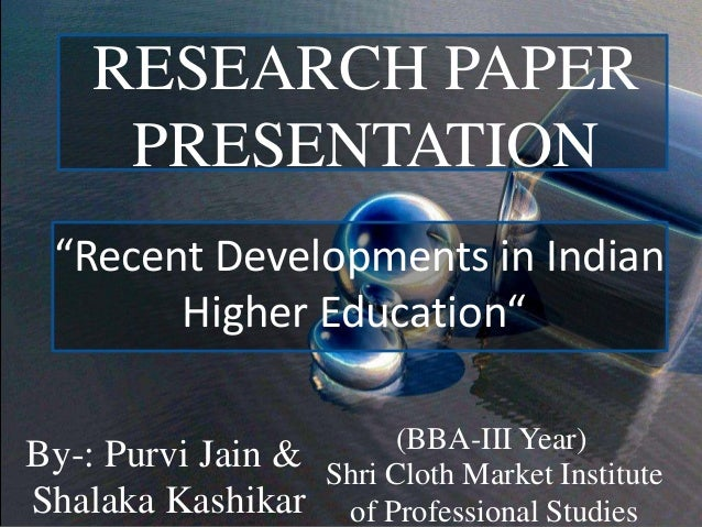 research paper on higher education in india