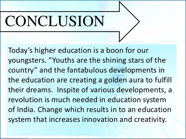 Higher education & research in India
