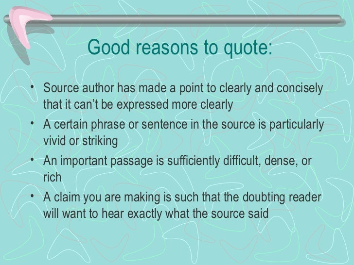 quoting in research papers