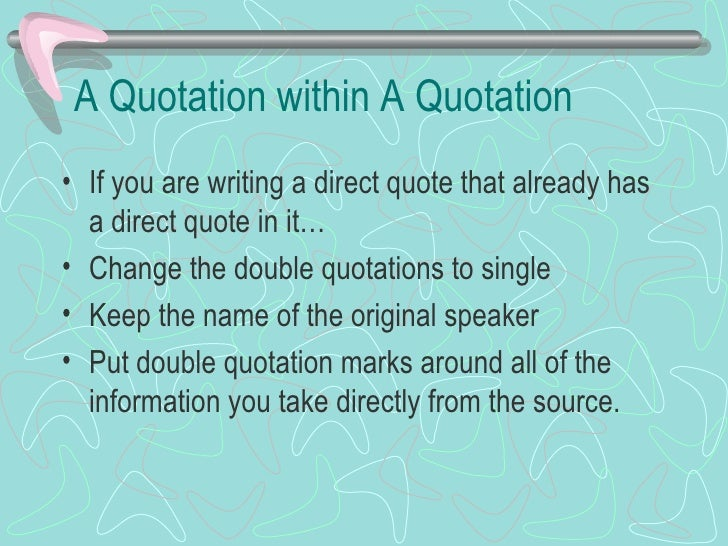 Quotations on research paper