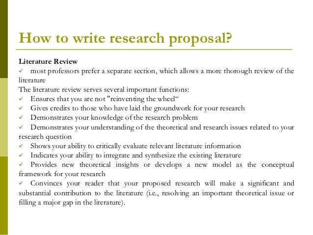 importance of literature review in research proposal Research proposal: tips for writing literature review 1 writing a research proposal and tips forliterature review.