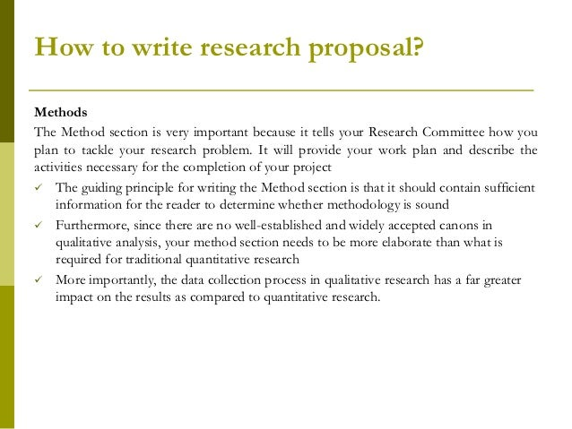 How to write the methods section of a research paper.