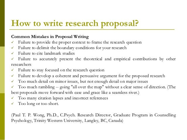 Research Proposal How To Write