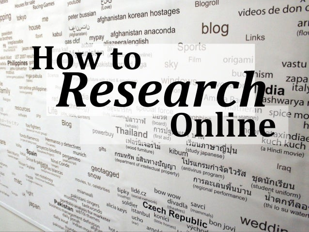 How to Research         Online