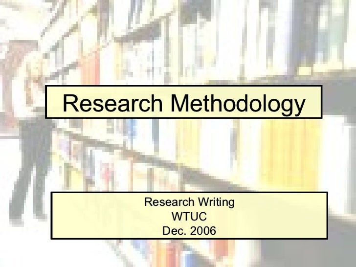 write research methodology