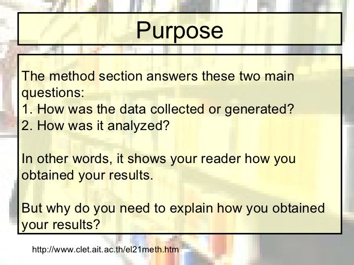 research paper how to write methodology The importance of explaining the methodology in a research paper or an essay is that it imparts clarity methodology is just between you and your sources, it is the.