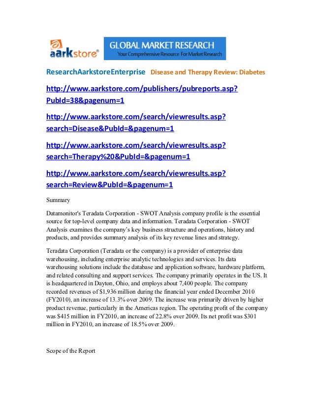 ResearchAarkstoreEnterprise Disease and Therapy Review: Diabeteshttp://www.aarkstore.com/publishers/pubreports.asp?PubId=3...
