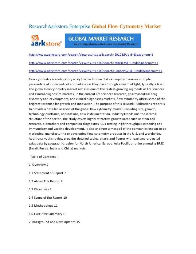 ResearchAarkstore Enterprise Global Flow Cytometry Markethttp://www.aarkstore.com/search/viewresults.asp?search=2012&PubId...