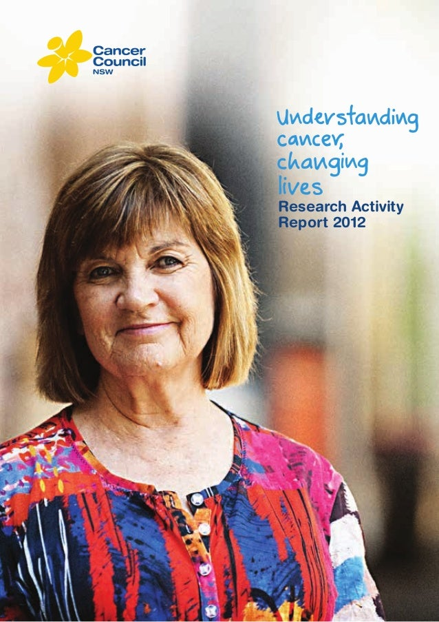 Cancer Research Activity Report 2012 By Cancer Council New South Wales