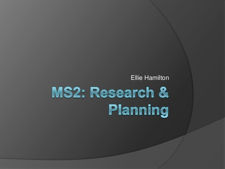 Research and planning final