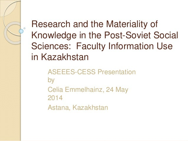 Research and the materiality of knowledge