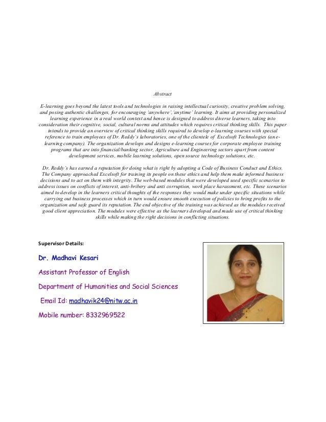Education critical thinking