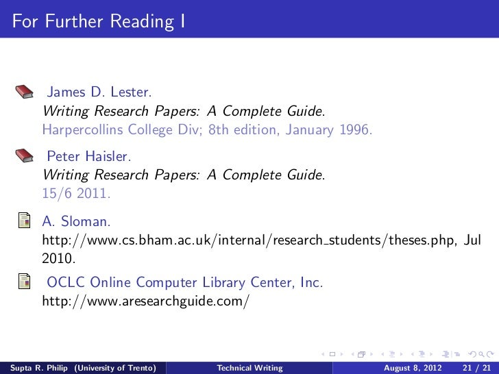 writing research papers a complete guide lester Lester, writing research papers: a complete guide pearson writing research papers: the definitive research paper guide, writing research papers combines a traditional and practical approach to the social sciences index  writing research papers: a complete guide,.