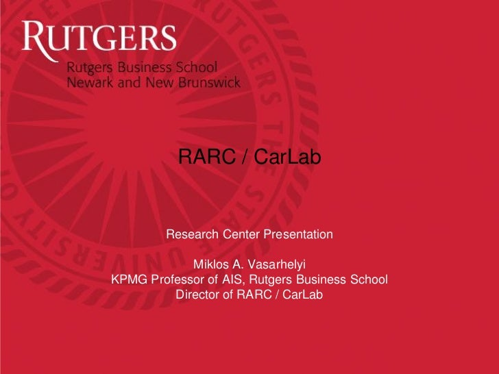 Rutgers Research Center
