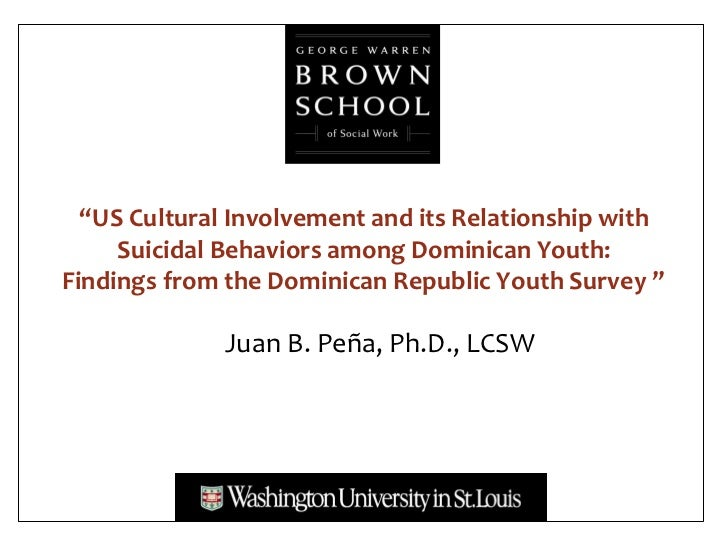 """US Cultural Involvement and its Relationship with     Suicidal Behaviors among Dominican Youth:Findings from the Dominica..."