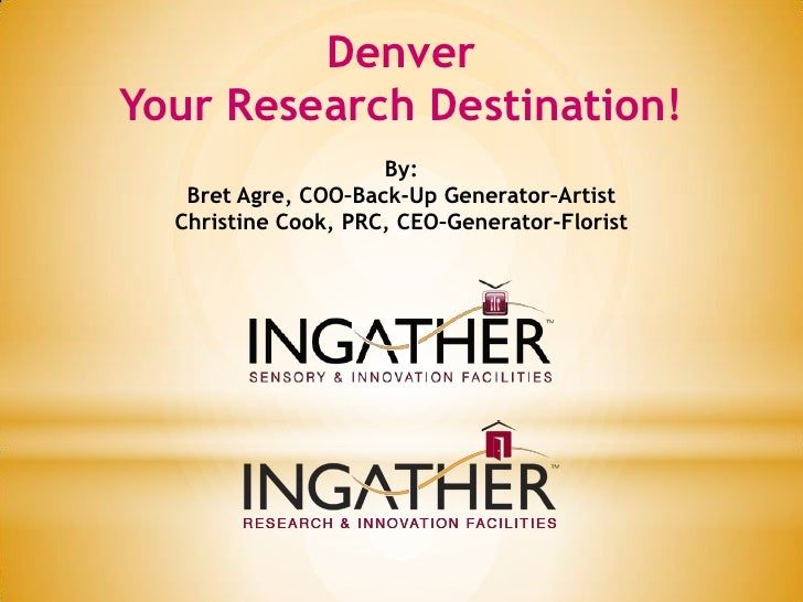 Conduct Sensory & Research in Denver