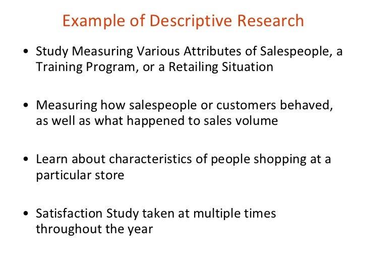 Example Of Descriptive Essay