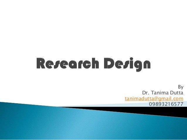 Research Design simplified