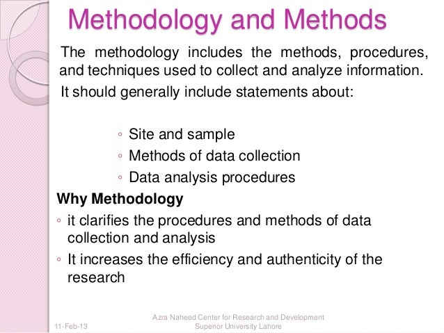 methodologies used in thesis The methods section describes actions to be taken to investigate a research problem and the rationale for the application of specific procedures or techniques used to identify, select, process, and analyze information applied to understanding the problem, thereby, allowing the reader to critically.