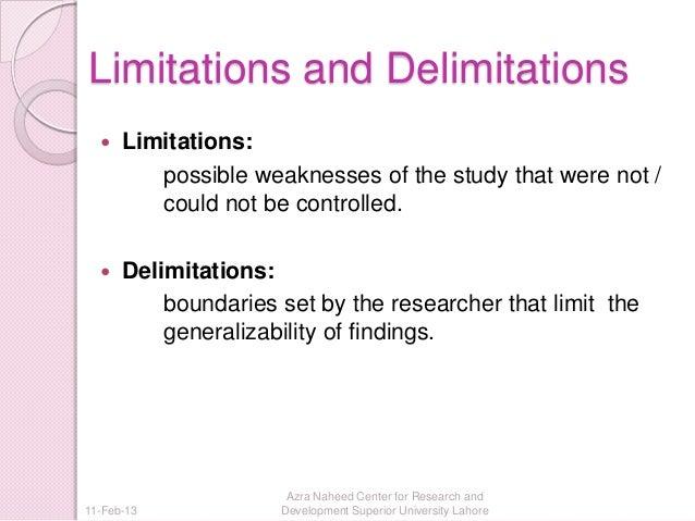 Limitations Delimitations