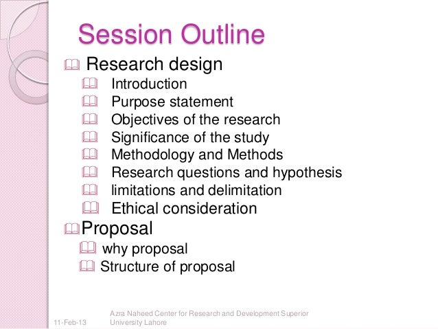 Layout Of Research Proposal