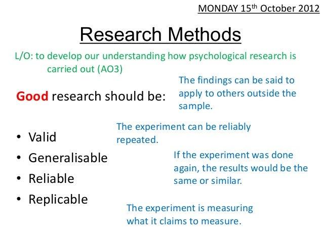 Research design, laboratory experiment