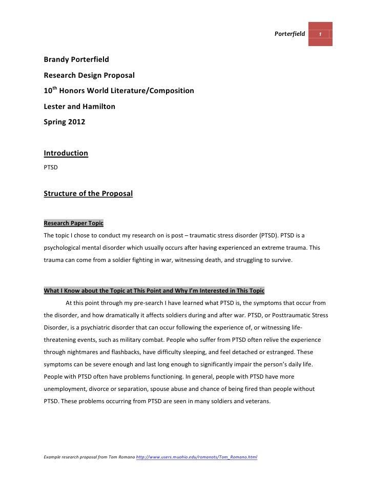Research design template