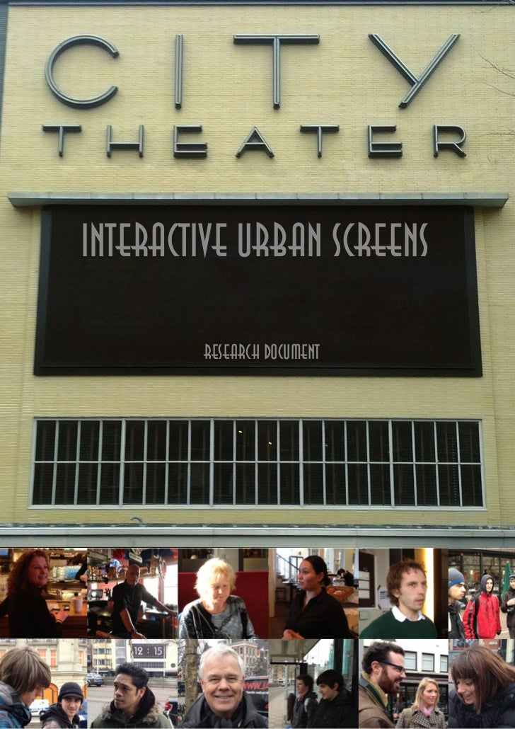 Research Document Interactive Urban Screens