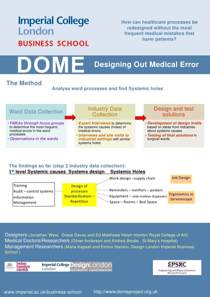 DOME @ Research Fest 2010 Imperial College - the Design Out Medical Error (DOME) project