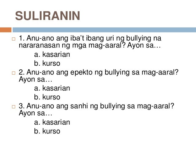 Buying a research paper bullying tagalog