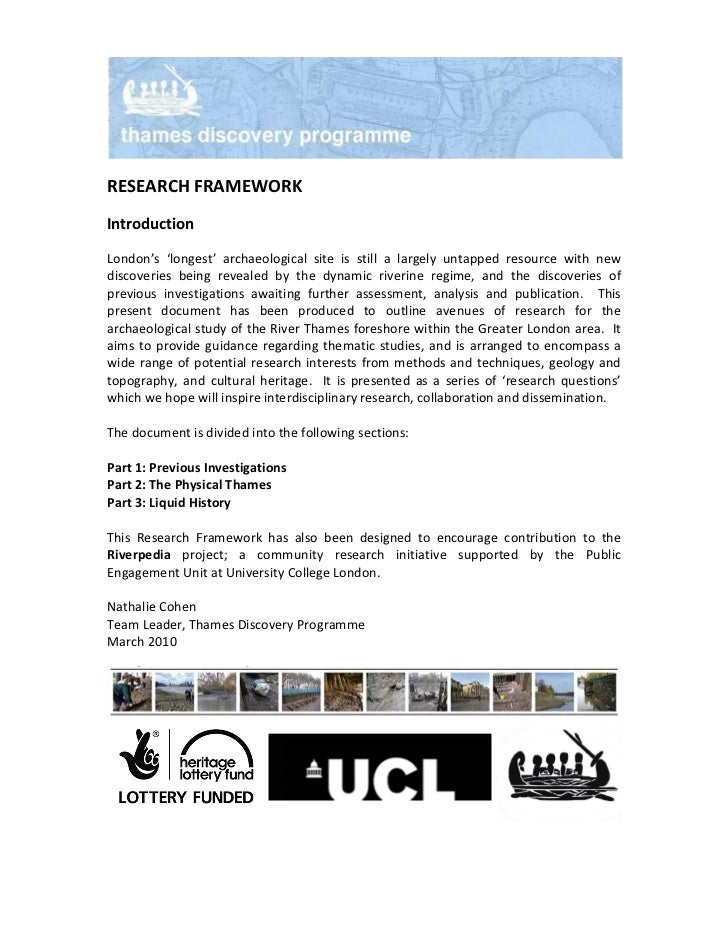 TDP Research Framework