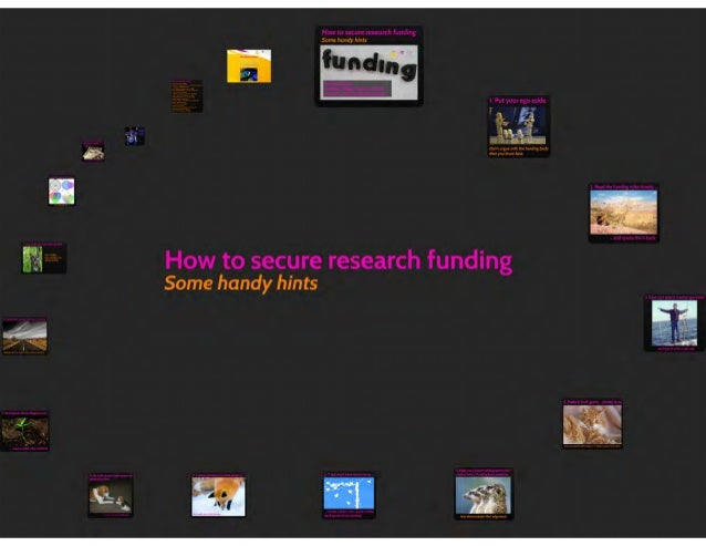 How to secure research funding: some handy hints