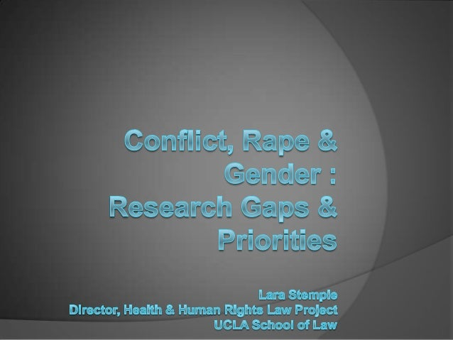 Research gaps in Male-Directed sexual violence Part 1