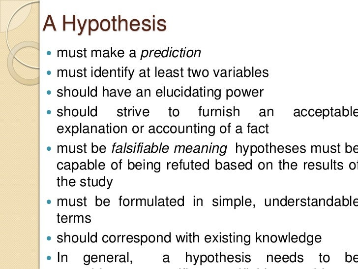 How To Write A Hypothesis For Research Paper