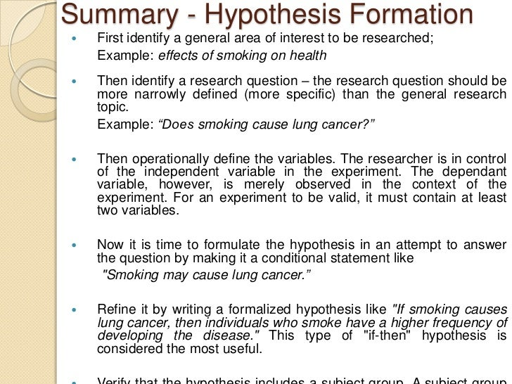 How to write hypothesis in thesis example