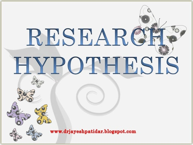 Hypothesis of research