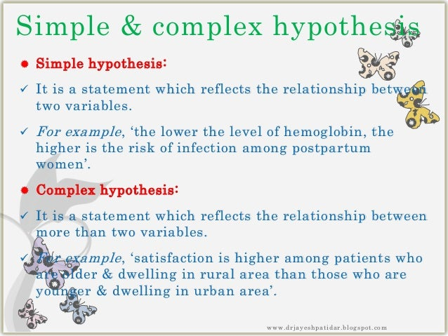 easy hypothesis examples