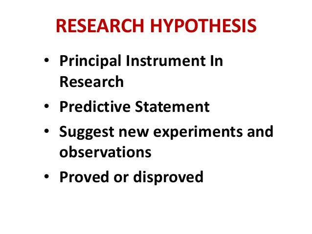 Formulating the Research Hypothesis and Null Hypothesis - Video ...