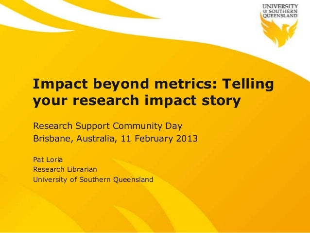 Research impact beyond metrics