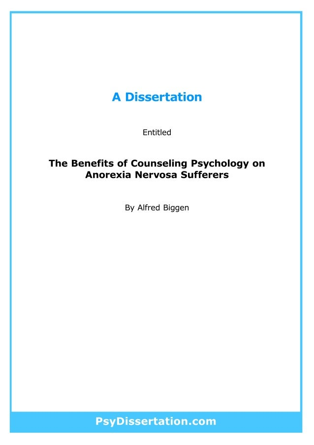 Psychology Dissertation Examples For Masters